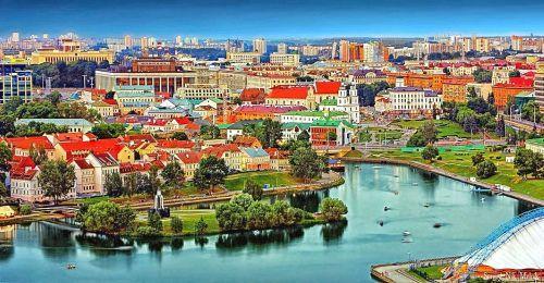 Una bella panoramica di Minsk